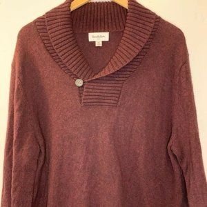 Goodfellow & Co Mens Pullover Sweater Brown Collar